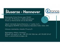 ślusarze Hannover od 22.06.